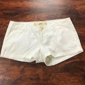HOLLISTER Low Rise White Denim Jean Shorts Women's
